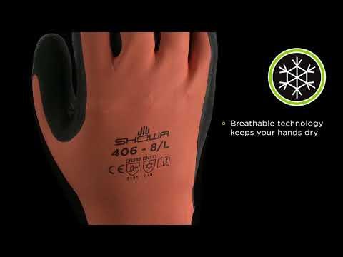 SHOWA 406 - Winter Glove In Latex And Latex Foam